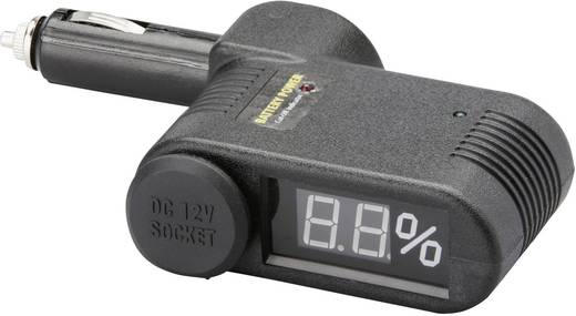 Szivargyújtó adapter, akkufeszültség kijelzéssel Unitec 77096