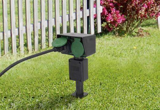 Leszúrható kerti elosztó, 2 részes, zöld/fekete, Renkforce