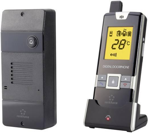 Vezeték nélküli digitális kaputelefon készlet, 1 családos, renkforce 1168614