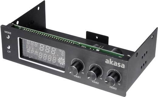 Ventilátorszabályozó monitorral és riasztással, 13,3 cm (5,25 coll), Akasa