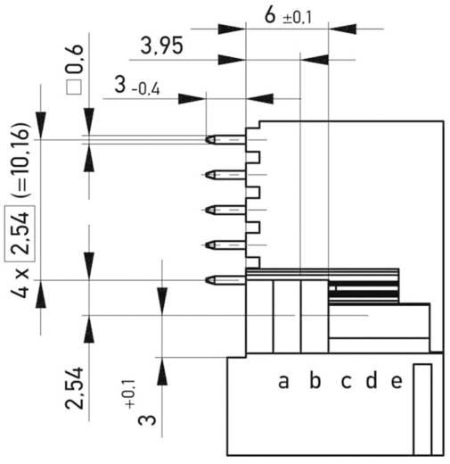 Csatlakozótűsor Kivitel E160 a+b+c+d+e 384299 ERNI Tartalom: 1 db