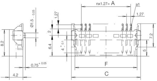 SMC csatlakozótűsor Kivitel (pl. 054596 ERNI Tartalom: 1 db