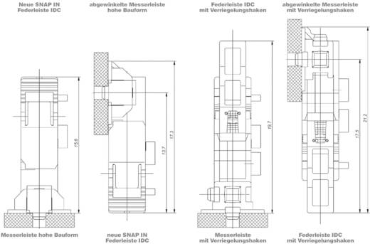 SMC csatlakozóalj sor Kivitel (pl. 154807 ERNI Tartalom: 1 db