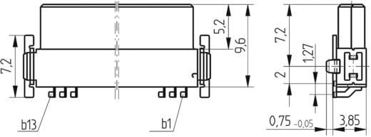 SMC csatlakozóalj sor Kivitel Q 154741 ERNI Tartalom: 1 db