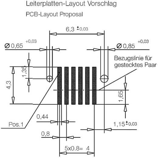 Csatlakozó rendszer, MicroStac® Kivitel Egysoros Tű/alj, egyenes 114711 ERNI Tartalom: 1 db