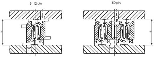 Csatlakozó rendszer, MicroStac® Kivitel Egysoros Tű/alj, egyenes 114712 ERNI Tartalom: 1 db