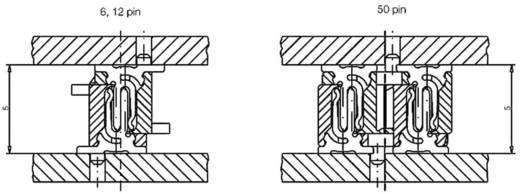 Csatlakozó rendszer, MicroStac® Kivitel Egysoros Tű/alj, egyenes 284257 ERNI Tartalom: 1 db