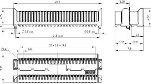 Csatlakozó rendszer, MicroStac® Kivitel Kétsoros Tű/alj, egyenes 114713 ERNI Tartalom: 1 db