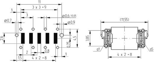 MicroSpeed® Power modulok Csatlakozóléc, egyenes 214912 ERNI Tartalom: 1 db