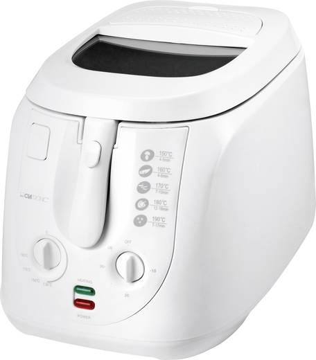 Fritőz manuális hőmérséklet szabályozással, 2000 W, fehér, Clatronic FR3548