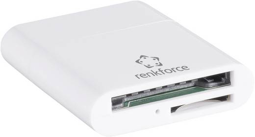 Külső memóriakártya olvasó, USB 2.0 Renkforce CR20e-K Fehér