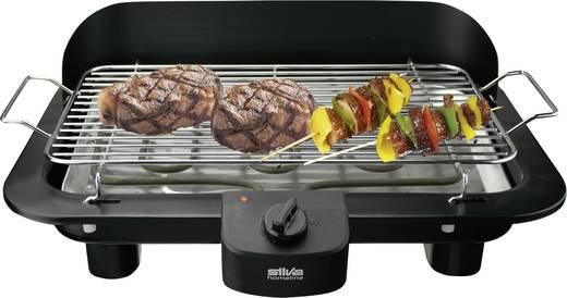Asztali elektromos grillsütő szélvédővel, fekete, Silva Homeline BQ153T
