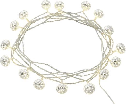 Beltéri LED-es fényfüzér, gömb motívumos, 16 LED, elemes, 4,5 m, melegfehér, Polarlite 1170821