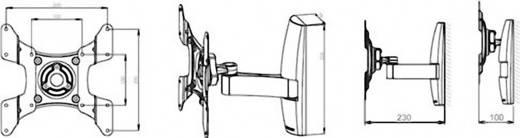 TV fali tartó konzol, kihajtható, forgatható, VESA szabvány 15 - 37méretig VCM TS 2 17921