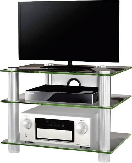Üvegpolcos TV szekrény, átlátszó üvegpolcokkal VCM Sindas 14120