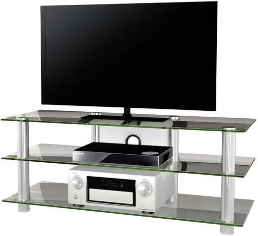 Üvegpolcos TV szekrény, átlátszó üvegpolcokkal 140x45x42 VCM Lotasa Big 140 14170