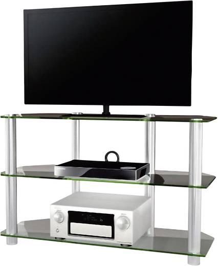 Üvegpolcos TV szekrény, átlátszó üvegpolcokkal 70x110x42 VCM Onata XXL 14160