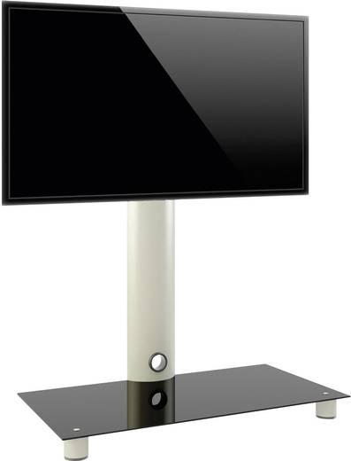 TV tartó állvány alumíniumból, fekete üveggel, ezüst színben 95x72x40cm VCM Standol 14220