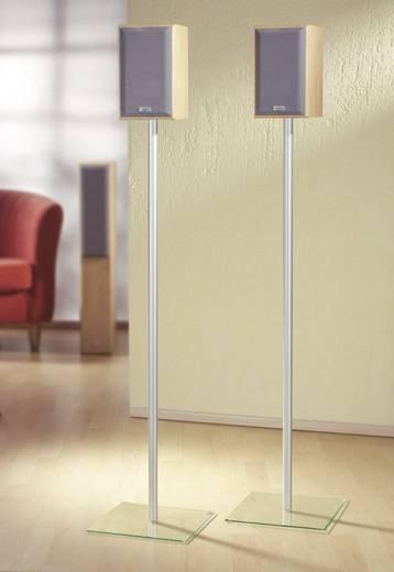Surround hangfal állványpár, max. 107cm ezüst színben, átlátszó üvegtalppal VCM Sulivo Maxi 15220