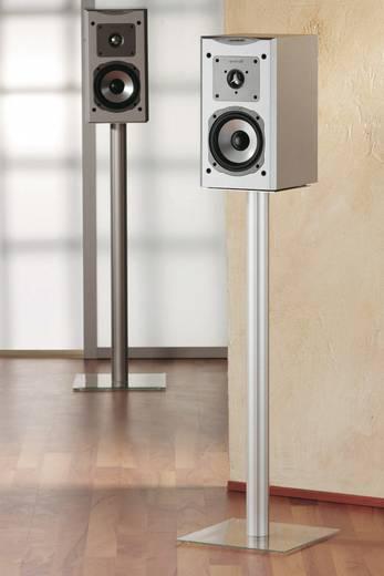 Surround hangfal állványpár, max. 71cm ezüst színben, átlátszó üvegtalppal VCM Boxero Maxi 15240