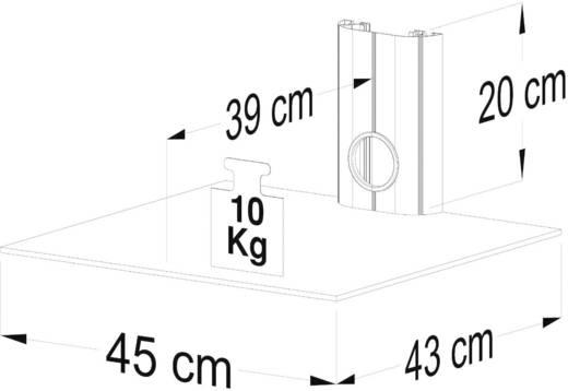 Fali tartó konzol, polcos elem átlátszó üvegből, 45x20x45cm VCM Trento1 17891
