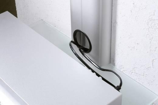 Fali tartó konzol, polcos elem, fekete üvegből, 45x20x45cm VCM Trento1 17896