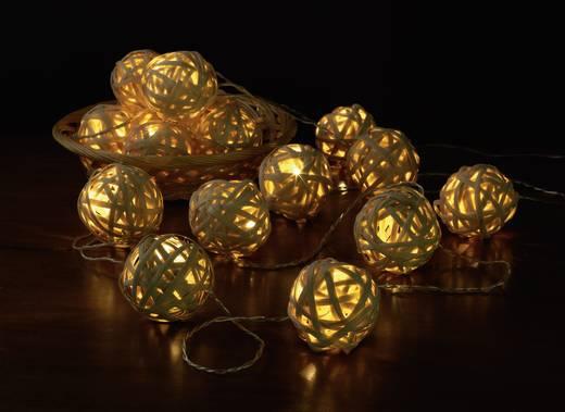 Beltéri fényfüzér, gömbök, 9,5m, 16 LED, melegfehér, Polarlite LDC-20-003