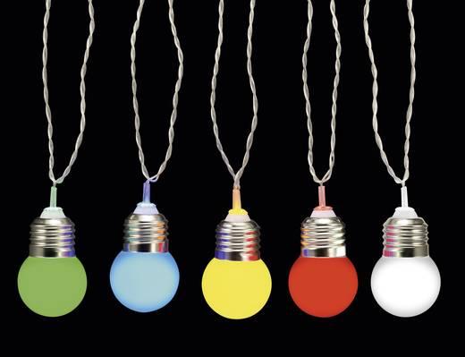 Kültéri sörkerti fényfüzér, 12,7m, 10 LED, színes, Polarlite PDC-20-001