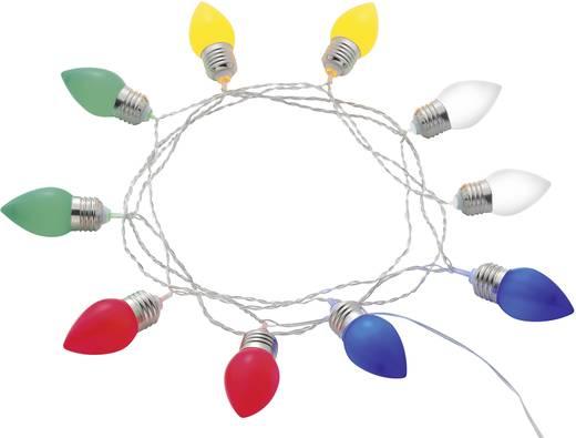 Kültéri sörkerti fényfüzér, 12,7m, 10 LED, színes, Polarlite PDC-20-002