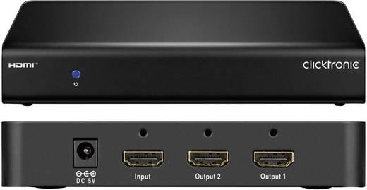 2 port HDMI elosztó 3648 x 2160 pixel clicktronic Fekete