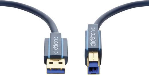 USB 3.0 csatlakozókábel 1x USB 3.0 A dugó - 1x USB 3.0 B dugó 0,5 m kék clicktronic