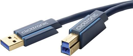 USB 3.0 csatlakozókábel [1x USB A dugó - 1x USB B dugó] 3 m Kék clicktronic 70093