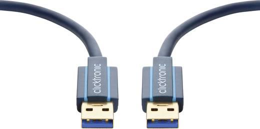 Számítógép Csatlakozókábel [1x USB 2.0 dugó A - 1x USB 2.0 dugó A] 3 m Kék clicktronic