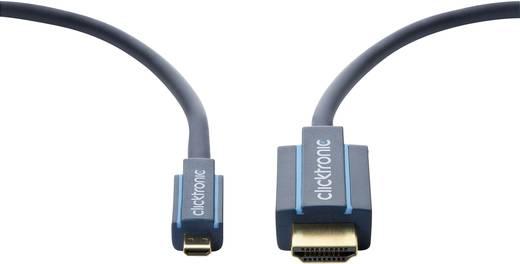 HDMI Csatlakozókábel [1x HDMI dugó - 1x HDMI dugó, D mikro] 3 m Kék 3840 x 2160 pixel clicktronic