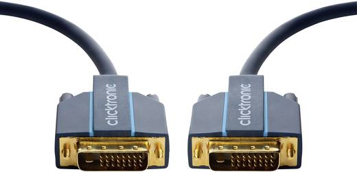 DVI Csatlakozókábel [1x DVI dugó, 24+1 pólusú - 1x DVI dugó, 24+1 pólusú] 1 m Kék 2560 x 1600 pixel clicktronic