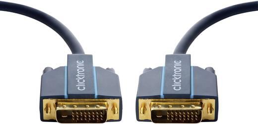 DVI Csatlakozókábel [1x DVI dugó, 24+1 pólusú - 1x DVI dugó, 24+1 pólusú] 2 m Kék 2560 x 1600 pixel clicktronic