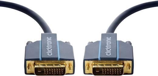 DVI Csatlakozókábel [1x DVI dugó, 24+1 pólusú - 1x DVI dugó, 24+1 pólusú] 7.50 m Kék 2560 x 1600 pixel clicktronic