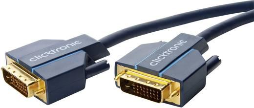 DVI Csatlakozókábel [1x DVI dugó, 24+1 pólusú - 1x DVI dugó, 24+1 pólusú] 10 m Kék 2560 x 1600 pixel clicktronic