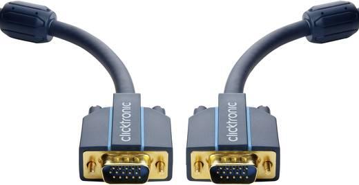 VGA Csatlakozókábel [1x VGA dugó - 1x VGA dugó] 7.50 m Kék 2560 x 1600 pixel clicktronic