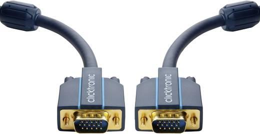 VGA Csatlakozókábel [1x VGA dugó - 1x VGA dugó] 10 m Kék 2560 x 1600 pixel clicktronic