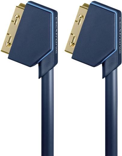 SCART TV, vevő Csatlakozókábel [1x SCART dugó - 1x SCART dugó] 1.50 m Kék clicktronic