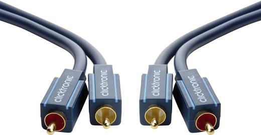 RCA audio kábel, 2x RCA dugó - 2x RCA dugó, 1 m, aranyozott, kék, Clicktronic 1171886