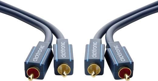 RCA Audio Csatlakozókábel [2x RCA dugó - 2x RCA dugó] 2 m Kék aranyozott érintkező clicktronic