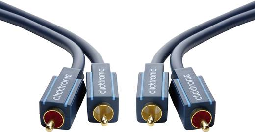 RCA Audio Csatlakozókábel [2x RCA dugó - 2x RCA dugó] 3 m Kék aranyozott érintkező clicktronic Casual