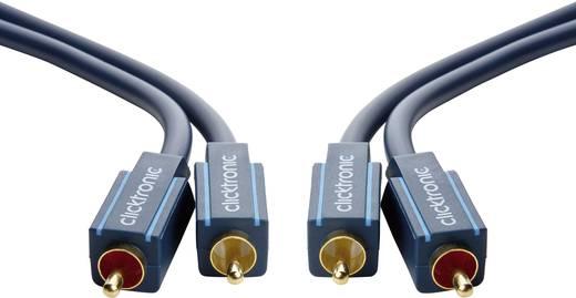 RCA audio kábel, 2x RCA dugó - 2x RCA dugó, 3 m, aranyozott, kék, Clicktronic 1171888