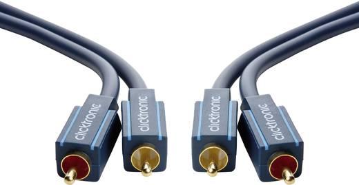RCA Audio Csatlakozókábel [2x RCA dugó - 2x RCA dugó] 7.50 m Kék aranyozott érintkező clicktronic