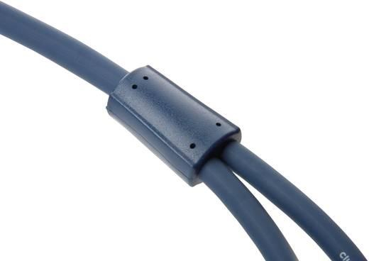 RCA audio kábel, 2x RCA dugó - 2x RCA dugó, 7,5 m, aranyozott, kék, Clicktronic 1171888