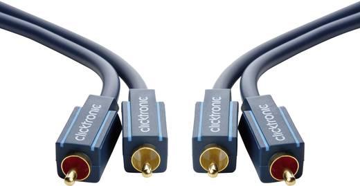 RCA Audio Csatlakozókábel [2x RCA dugó - 2x RCA dugó] 10 m Kék aranyozott érintkező clicktronic Casual