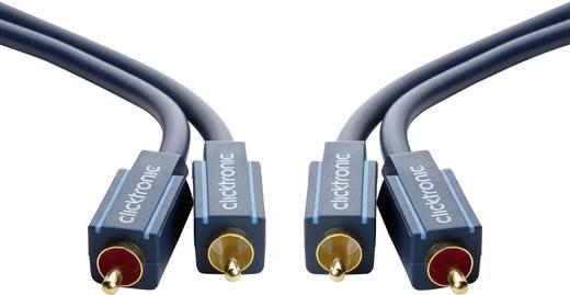 RCA Audio Csatlakozókábel [2x RCA dugó - 2x RCA dugó] 20 m Kék aranyozott clicktronic Casual