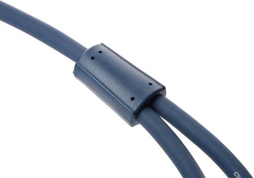 RCA Audio Y kábel [1x RCA dugó - 2x RCA dugó] 3 m Kék aranyozott érintkező clicktronic